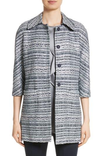 St. John Collection Lacquered Metallic Ribbon Knit Jacket