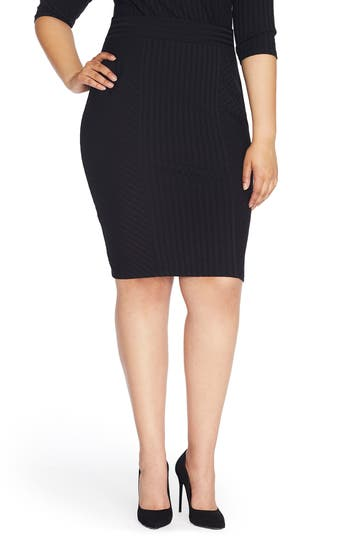 REBEL WILSON X ANGELS Ribbed Knit Pencil Skirt (Plus Size)