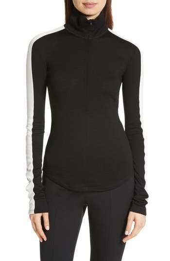 Theory Zip Neck Wool Ski Top