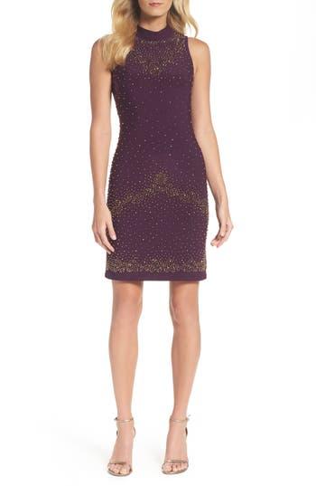 Chetta B Beaded Sheath Dress