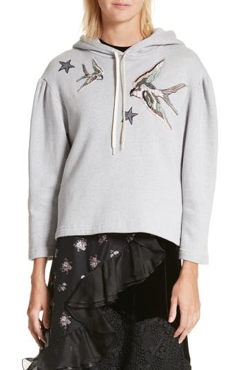 Rebecca Taylor Embroidered Hoodie