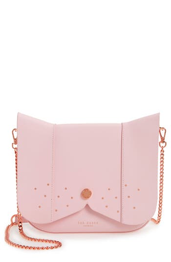 Ted Baker London Barkley Dog Leather Crossbody Bag