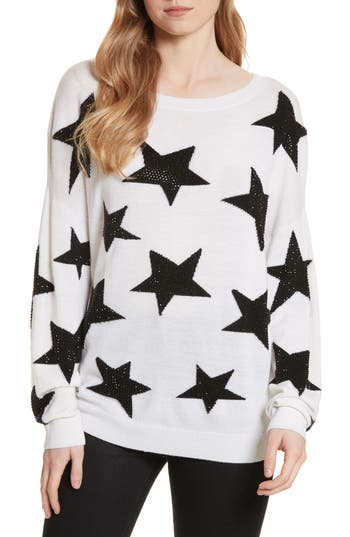 Alice + Olivia Bao Star Embellished Wool Sweater