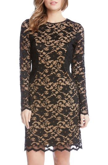 Karen Kane Contrast Side Lace Sheath Dress