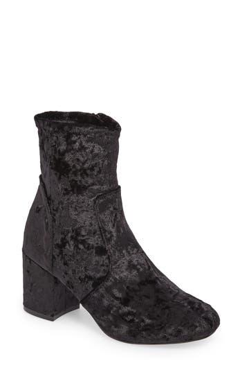 eclipse velvet sock bootie
