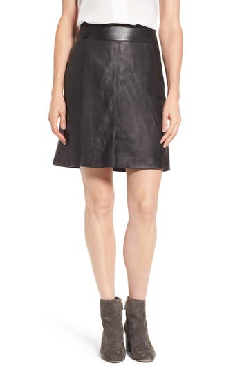 Halogen® Leather Skirt