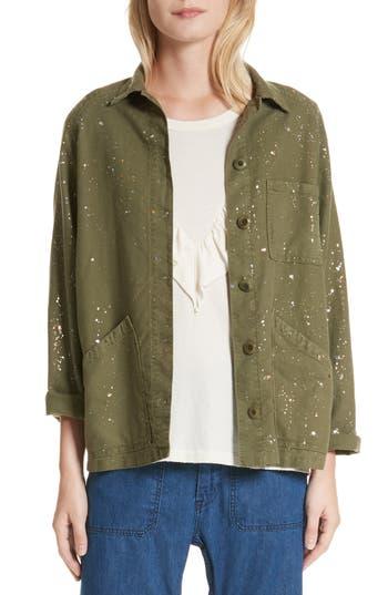 THE GREAT. The Field Metallic Speckle Jacket