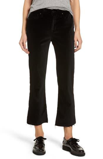 Fidelity Denim Hayden Crop Velvet Jeans (Black Potion)