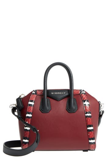 Givenchy Antigona Genuine Snakeskin & Calfskin Leather Satchel