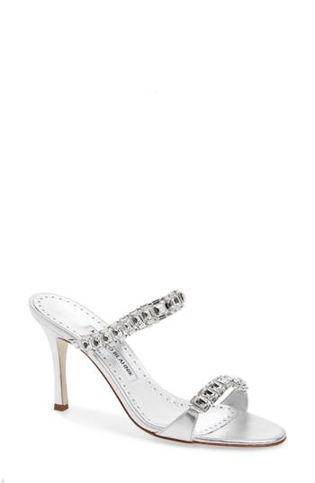 Manolo Blahnik Dallifac Embellished Sandal (Women)