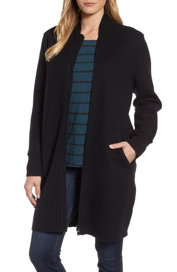 Eileen Fisher Boiled Wool Bomber Coat