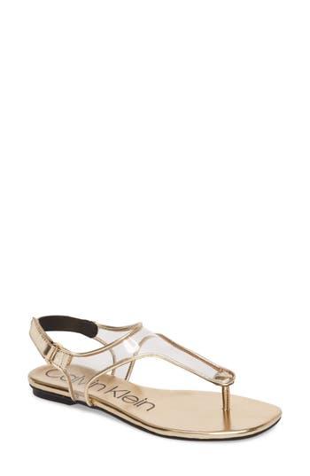 Calvin Klein Shilo Clear Strap Sandal (Women)