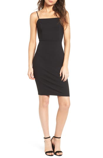 Isabella Noir Dot Embroidered Body Con Dress by Bronx And Banco