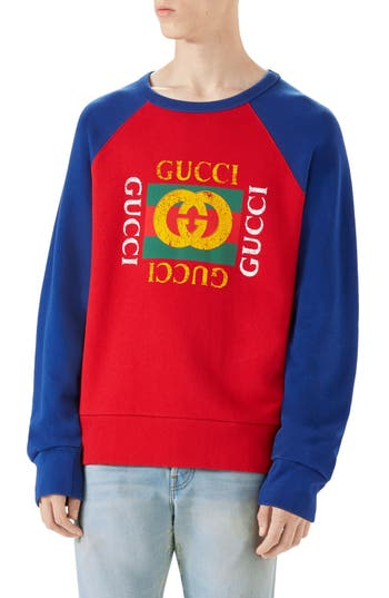 Logo Graphic Crewneck Sweatshirt by Gucci