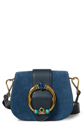 Lennox Suede & Leather Saddle Bag by Polo Ralph Lauren