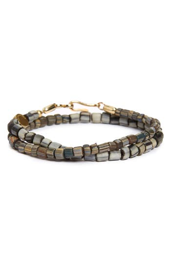 Caputo Co Glass Bead Wrap Bracelet