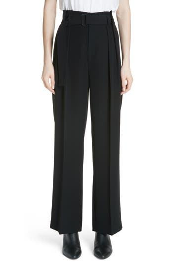 belted-wide-leg-pants by vince