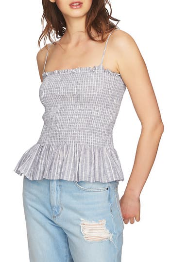 Smocked Spaghetti Strap Top by 1.State