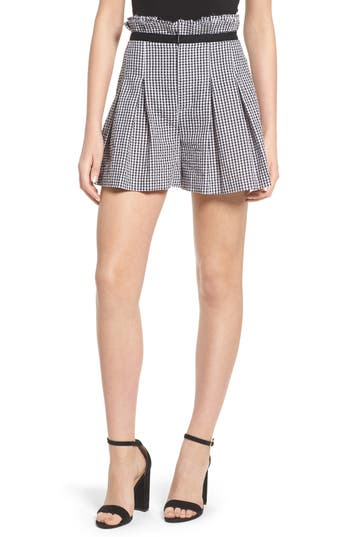 Gingham Paperbag Shorts by Kendall + Kylie