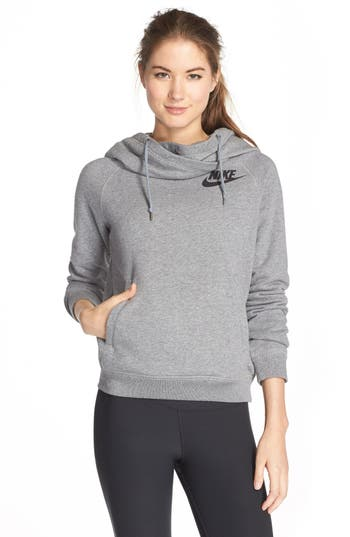 nike 39 rally 39 funnel neck hoodie nordstrom. Black Bedroom Furniture Sets. Home Design Ideas