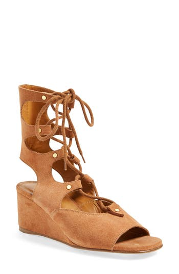 'foster' Suede Wedge Gladiator Sandal by ChloÉ