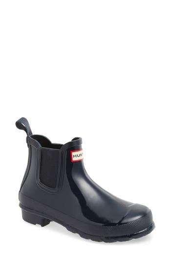 Hunter 'Original Gloss' Waterproof Chelsea Boot (Women)
