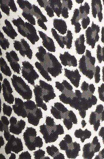 Alternate Image 3  - Hue Leopard Print Denim Leggings