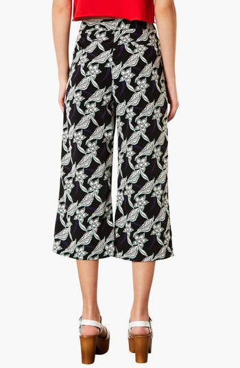 Alternate Image 2  - Topshop Floral Crop Trousers (Petite)