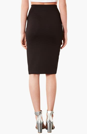 Alternate Image 2  - Topshop Textured Pencil Skirt