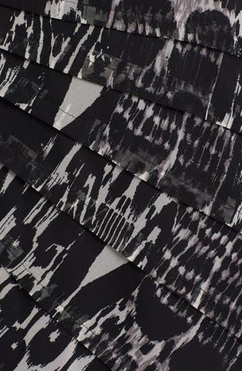 Alternate Image 3  - Adrianna Papell Asymmetrical Pleat Print Dress