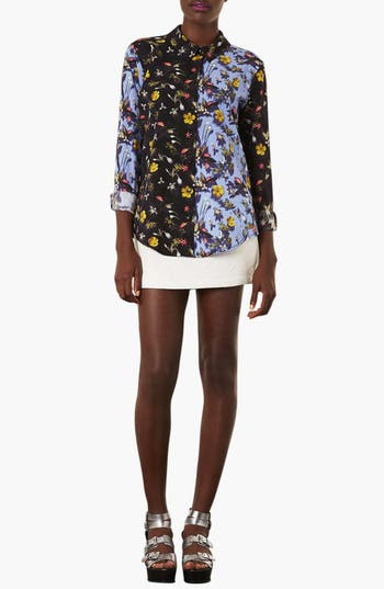 Alternate Image 3  - Topshop 'Tiny Blur' Floral Print Shirt