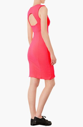 Alternate Image 2  - Topshop Sweetheart Neckline Body-Con Dress (Petite)