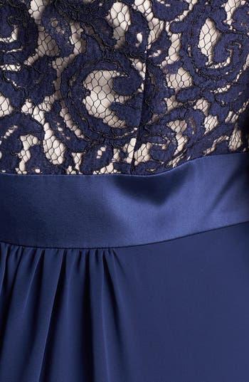 Alternate Image 3  - Eliza J Lace & Chiffon Gown (Plus Size)