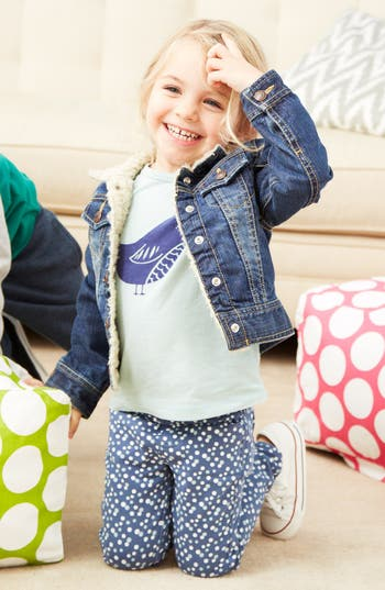 Main Image - Tucker + Tate Denim Jacket, Tee & Jeggings (Toddler Girls)