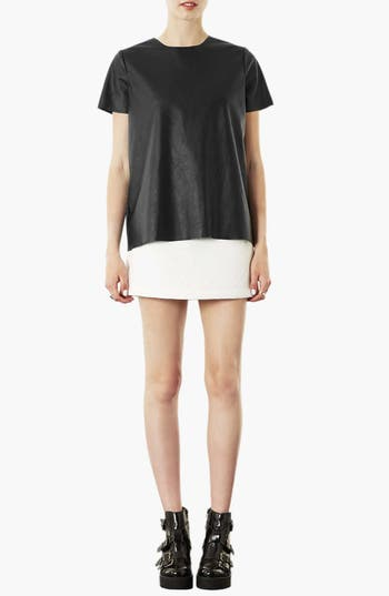 Alternate Image 4  - Topshop 'Paloma' Faux Leather Tee