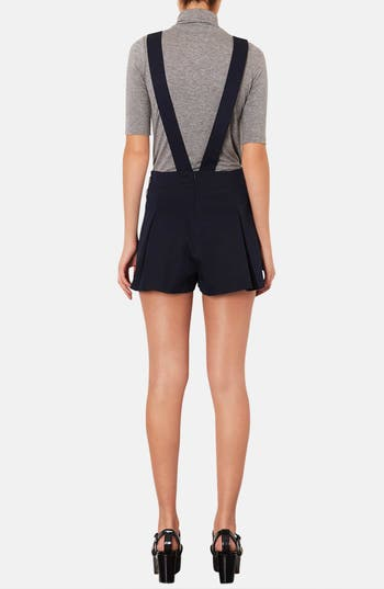 Alternate Image 2  - Topshop Textured Pinafore Romper