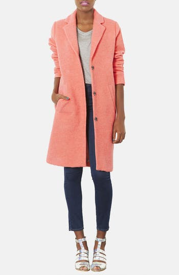 Alternate Image 4  - Topshop Wool Blend Boyfriend Coat