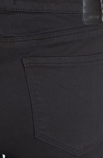 Alternate Image 3  - THIS CITY High Waist Skinny Jeans (Black) (Juniors)