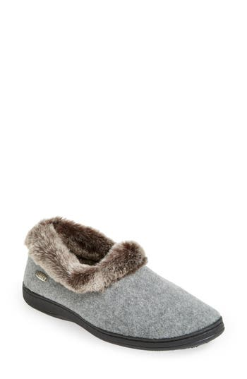 Acorn 'Chinchilla Collar' Faux Fur Slipper (Women)
