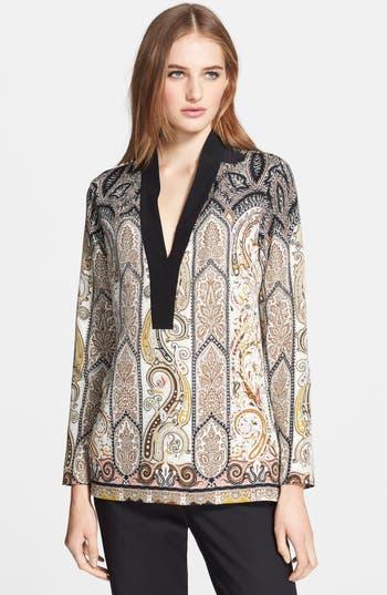 Etro Paisley Silk Tunic Top Nordstrom
