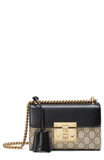 Gucci Small Padlock GG Supreme Canvas & Leather Shoulder Bag