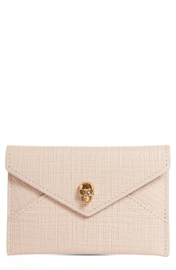 Alexander McQueen Embossed Leather Envelope Card Case