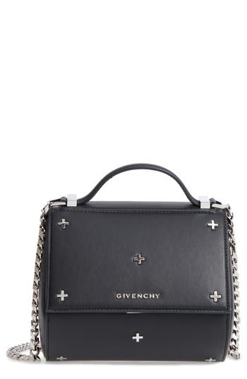 Givenchy Pandora Metal Cross Leather Satchel