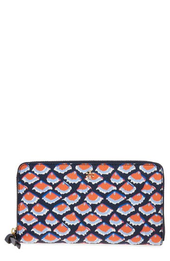 Tory Burch Kerrington Coated Canvas Zip Around Wallet