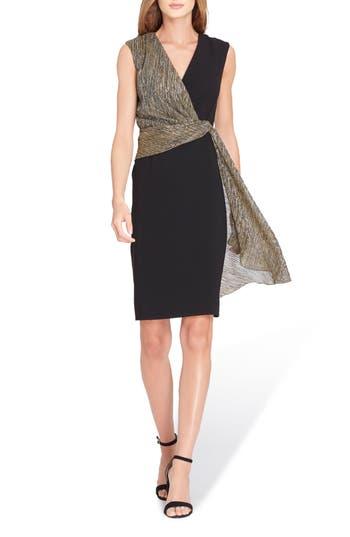 Tahari Sleeveless Wrap Detail Sheath Dress