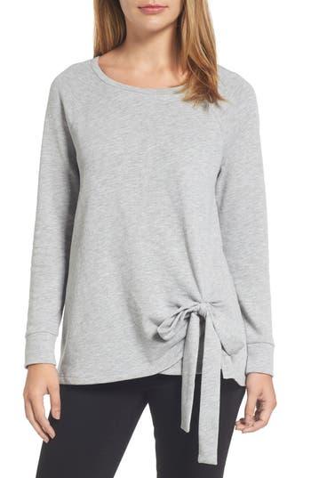 Caslon® Tie Front Sweatshirt ..