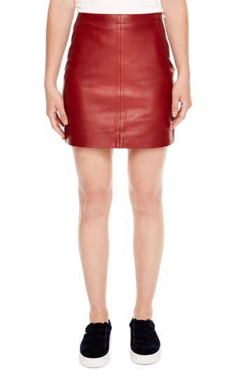 sandro Leather Skirt