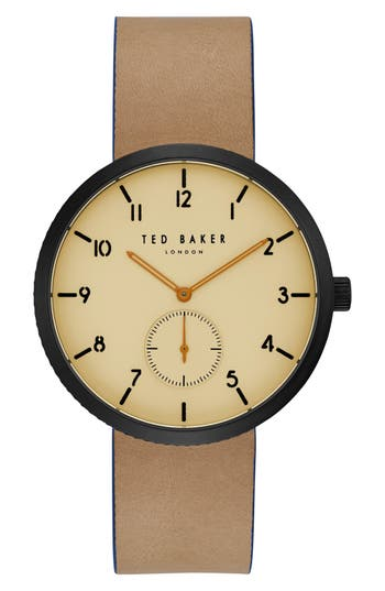 Josh Leather Strap Watch, 42mm by Ted Baker London