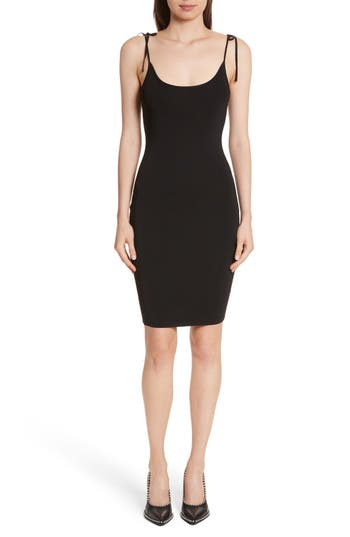 T by Alexander Wang Tie Detail Rib Knit Dress