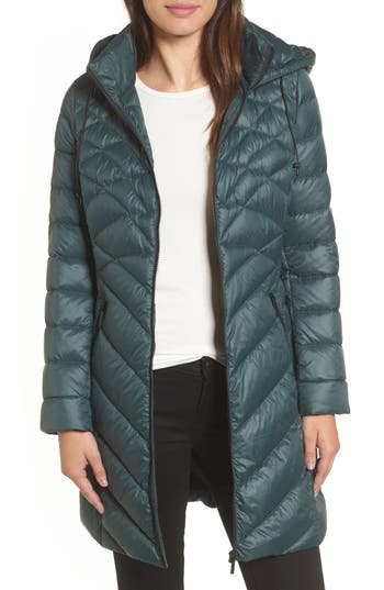 Halogen® Hooded Down Puffer Jacket